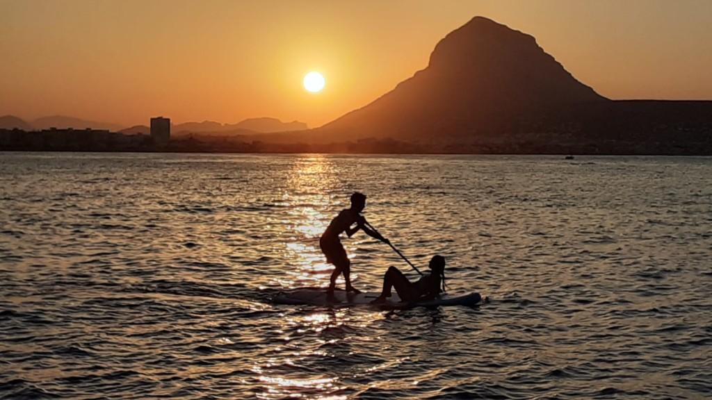 Puesta de sol en barco Jávea
